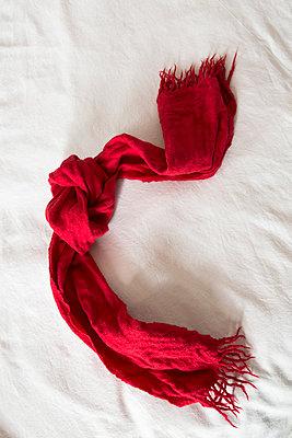Red scarf - p1682m2278076 by Régine Heintz