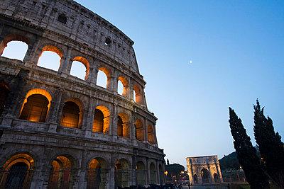 Colosseum at night - p3007535f by Gaby Wojciech