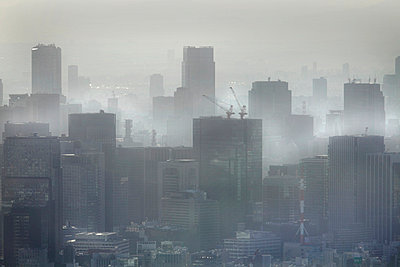 High-rise buildings of Tokyo - p265m753529 by Oote Boe
