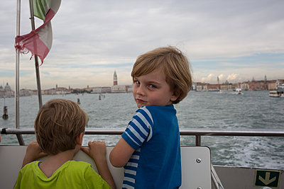 Kid in Venice - p1308m2126469 by felice douglas
