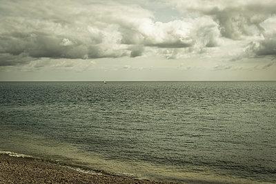Small sailing boat on the English Channel - p1170m2020148 by Bjanka Kadic