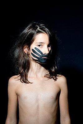 Bemaltes Gesicht - p1116m1217095 von Ilka Kramer