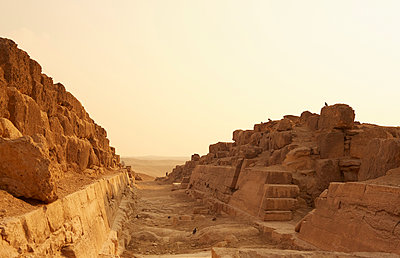 The Cemetery at the Pyramids of Giza, Egypt - p694m2068648 by Maria Karas