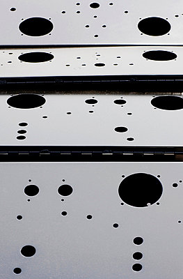 Close up of spotted steel panels - p42916992 by Charlie Fawell