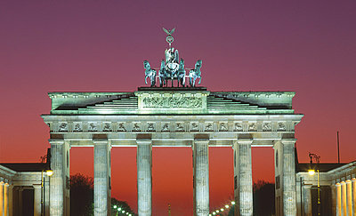 Brandenburg Gate at night, Berlin, Germany - p4736604f by STOCK4B-RF
