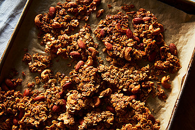homemade granola with extra clumps - p1379m1525881 by James Ransom