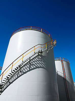 Stairs curving around water tower - p42916997 by Charlie Fawell