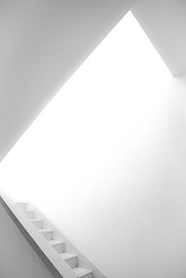 White Stairway - p1062m794411 by Viviana Falcomer