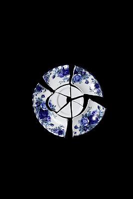 Broken porcelain plate - p1248m2200396 by miguel sobreira