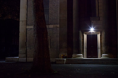 Church entrance at night - p1291m1116145 by Marcus Bastel