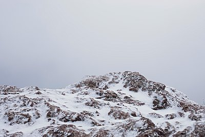 Snow-covered mountain - p445m2053321 by Marie Docher