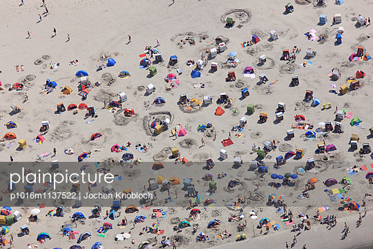 Tents on beach - p1016m1137522 by Jochen Knobloch