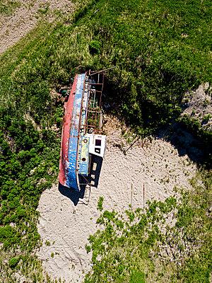 Ship graveyard, Barents Sea, Teriberka, Kolsky District, Murmansk, Russia - p1108m2193209 by trubavin