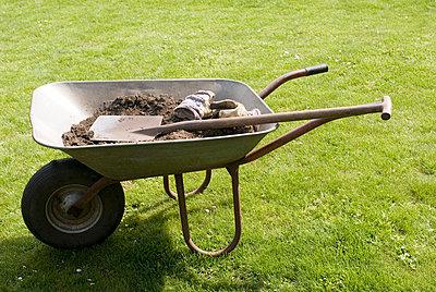 Schubkarre im Garten - p3050142 von Dirk Morla