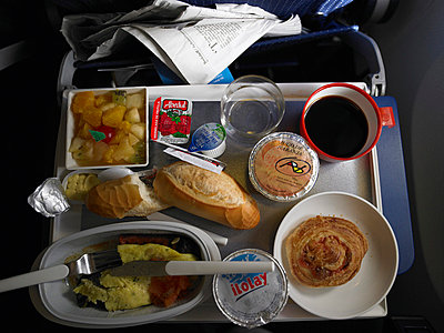 In-flight breakfast - p3881014 by Bill Davies
