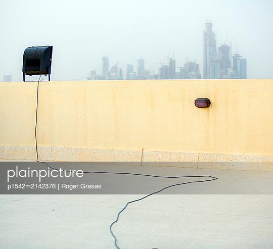 Skyline von Riad im Dunst, King Abdullah Financial City, Saudi-Arabien - p1542m2142376 von Roger Grasas