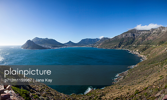 View of Hout Bay - p712m1159987 by Jana Kay