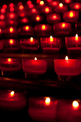 Candles in a church - p6460166 by gio