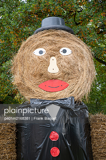 Male straw doll for Thanksgiving - p401m2168381 by Frank Baquet