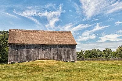 Barn in Field - p1331m1195736 by Margie Hurwich