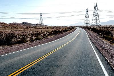 Road & Pylons - p1489m1573676 by Paul Simcock