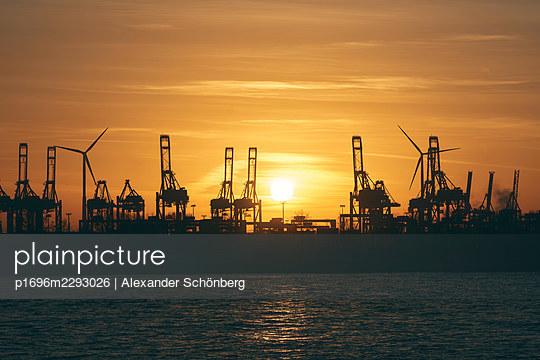 Sunset at the harbour - p1696m2293026 by Alexander Schönberg