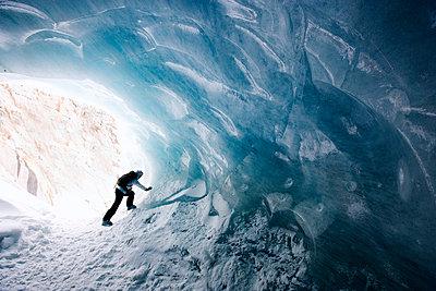 Ice cave Mer de Glace Chamonix France - p31222961f by Henrik Trygg