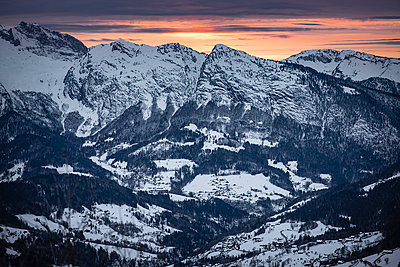 France, Sunset in the mountains - p1007m2216588 by Tilby Vattard