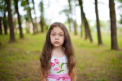 Portrait of a little girl in the park - p1412m1559583 by Svetlana Shemeleva