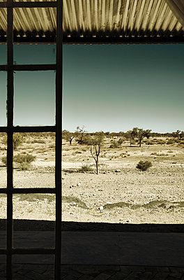 Blick von der Veranda auf die Wüste - p1248m1138264 von miguel sobreira