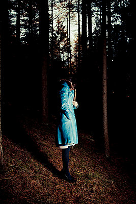 Woman in a forest - p7500081 by Silveri