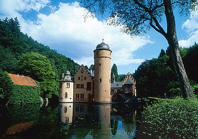 Mespelbrunn Castle, Bavaria, Germany - p4736612f by STOCK4B-RF