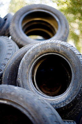 Rubber tires - p4450360 by Marie Docher