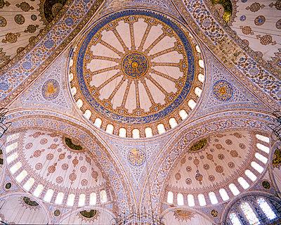 Blaue Moschee, Verzierung der Kuppel, Istanbul - p1542m2142312 von Roger Grasas