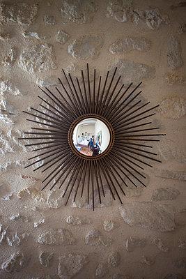 Decorative mirror mounted on wall - p301m1102052f by Halfdark