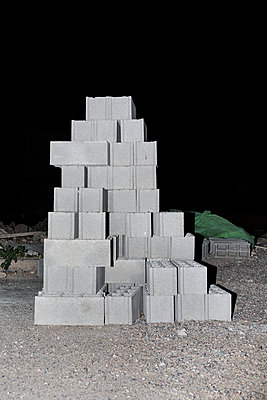 Pile of concrete blocks - p1177m1467458 by Philip Frowein