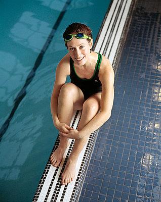 Portrait of swimmer - p3721768 by James Godman