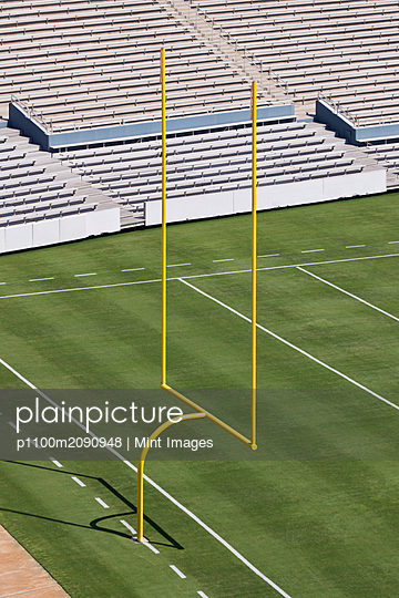 Football Field End Zone - p1100m2090948 by Mint Images