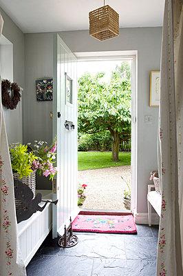 Open door to Kent country cottage  UK - p3493509 by Robert Sanderson
