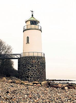 Lighthouse on the Baltic Sea coast - p382m2100259 by Anna Matzen