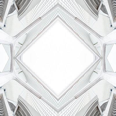 Abstract kaleidoscope pattern Liège-Guillemins station in Liège - p401m2209310 by Frank Baquet