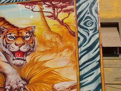 Tiger auf Kirmeswagen - p9790482 von Hanke