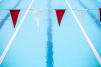 Swimming lanes - p1367m2031274 by Teresa Walton