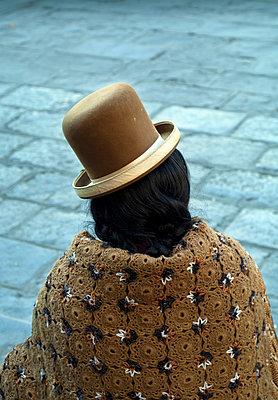 Bolivan Cholita, Iindigenous Aymaran Clothing,  Plaza San Francisco, La Paz, Bolivia. - p651m860433 by John Coletti photography