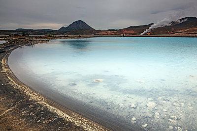 Mineral pool, Namaskard, Myvatn, Iceland - p1023m1030011f by David Henderson