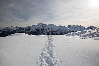 Winter hiking - p1074m880674 by Olivier Lovey