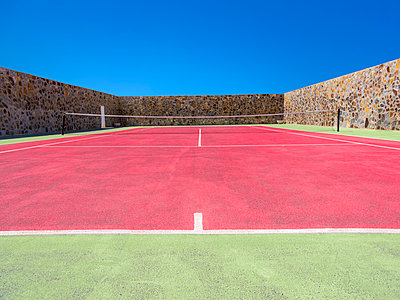 walled tennis court - p1280m1515080 by Dave Wall