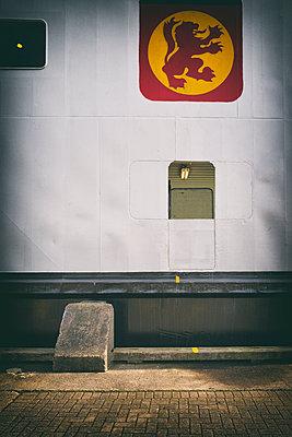 Ferry boat harbor Scottish lion rampant flag port - p609m1192612 by OSKARQ