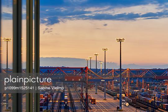 Bahnverladestation Containerterminal Hamburg - p1099m1525141 von Sabine Vielmo