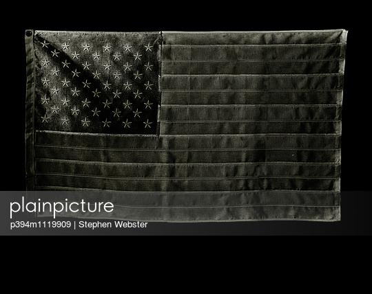 United States Flag- Black - p394m1119909 by Stephen Webster